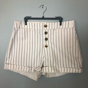 Old Navy Striped (Navy) High Waisted Shorts